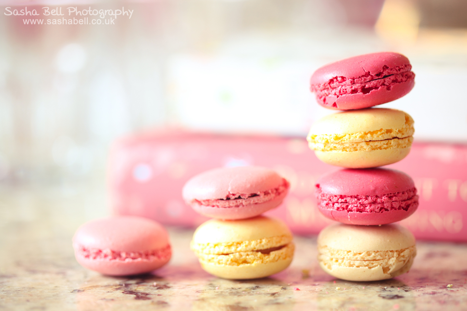 Raspberry and Vanilla Macaroons
