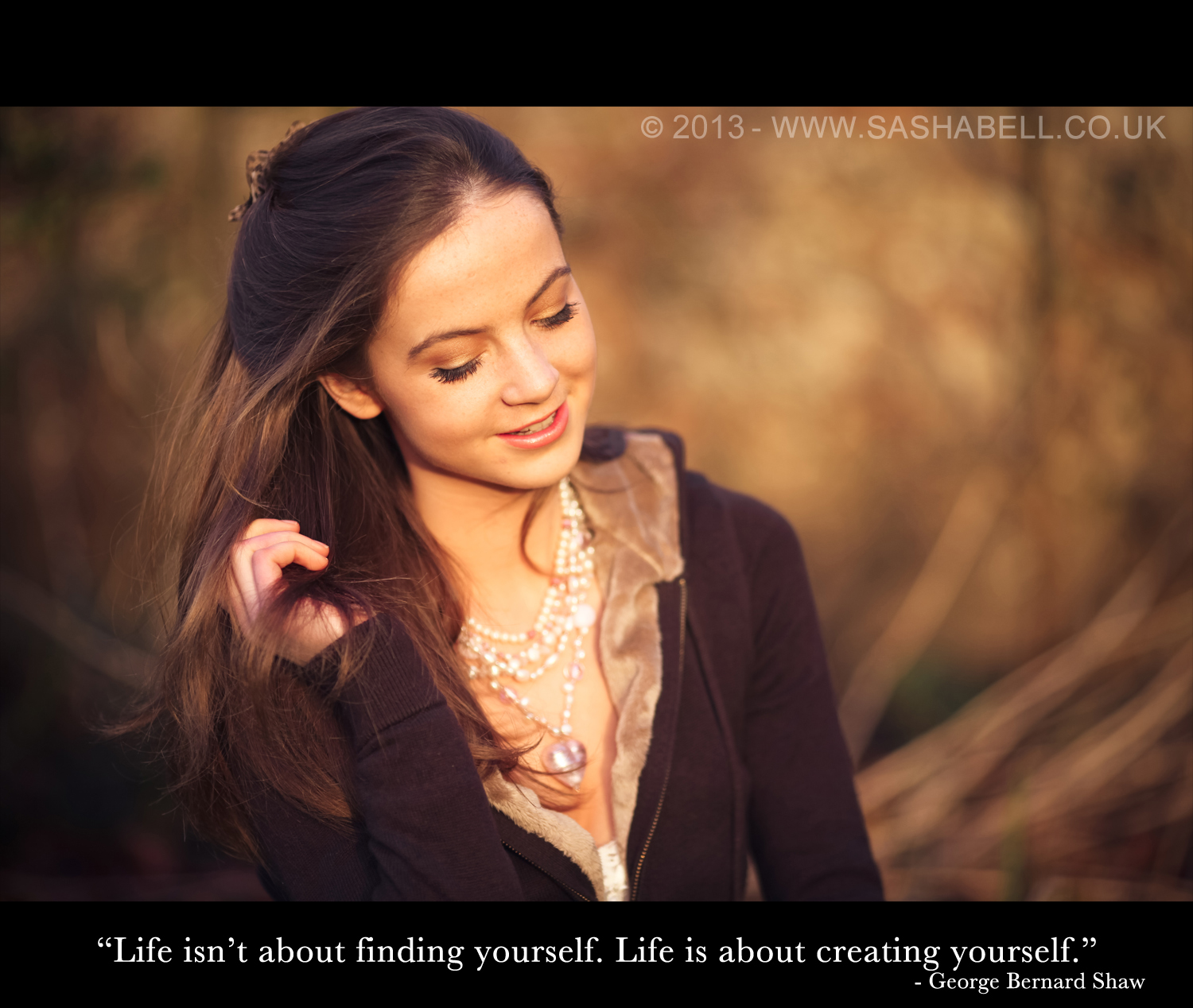 """Life isn't about finding yourself. Like is about creating yourself."""