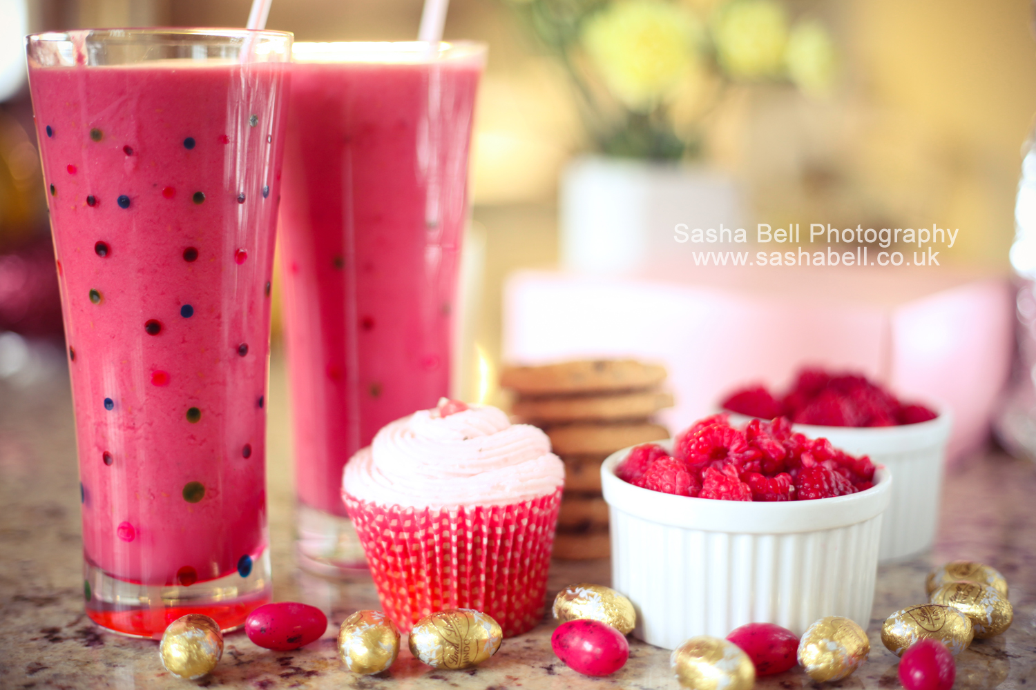 Raspberries and Raspberry Smoothies – Day 186/365