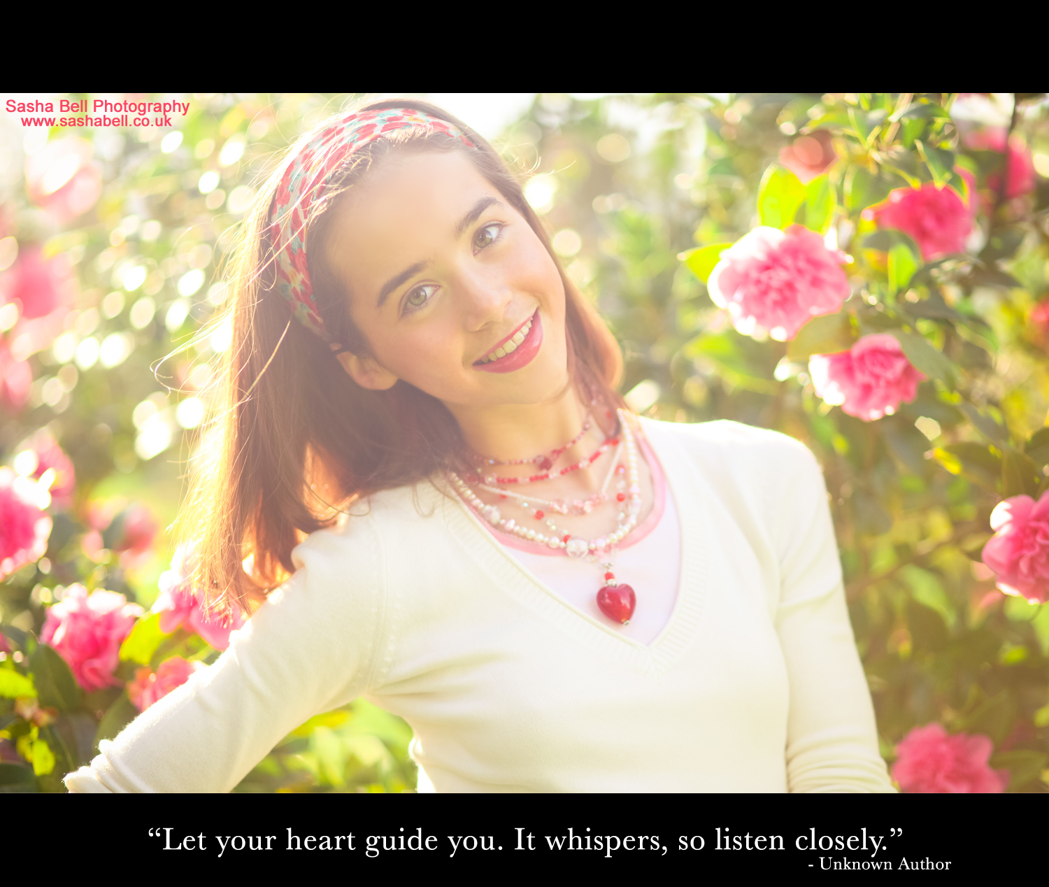 """Let your heart guide you. It whispers, so listen closely"""