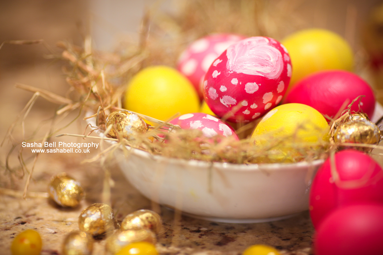 Pink and Yellow Easter Eggs – Series