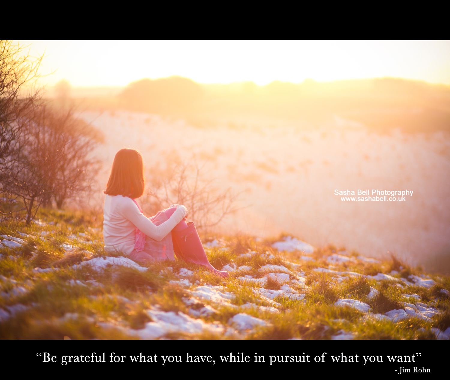 """Be grateful for with you have, while in pursuit of what you want"""