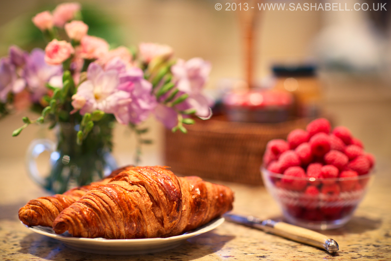 Fresh Croissant With Rasberries – Day 153/365