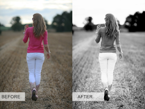 Black and White Photoshop Action Pack